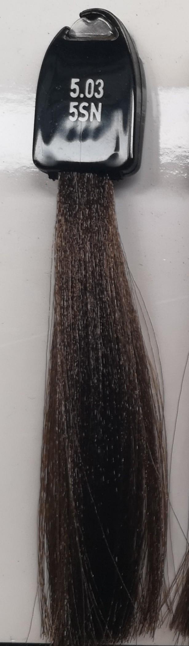 5.03 šilkinė natūrali šviesi ruda