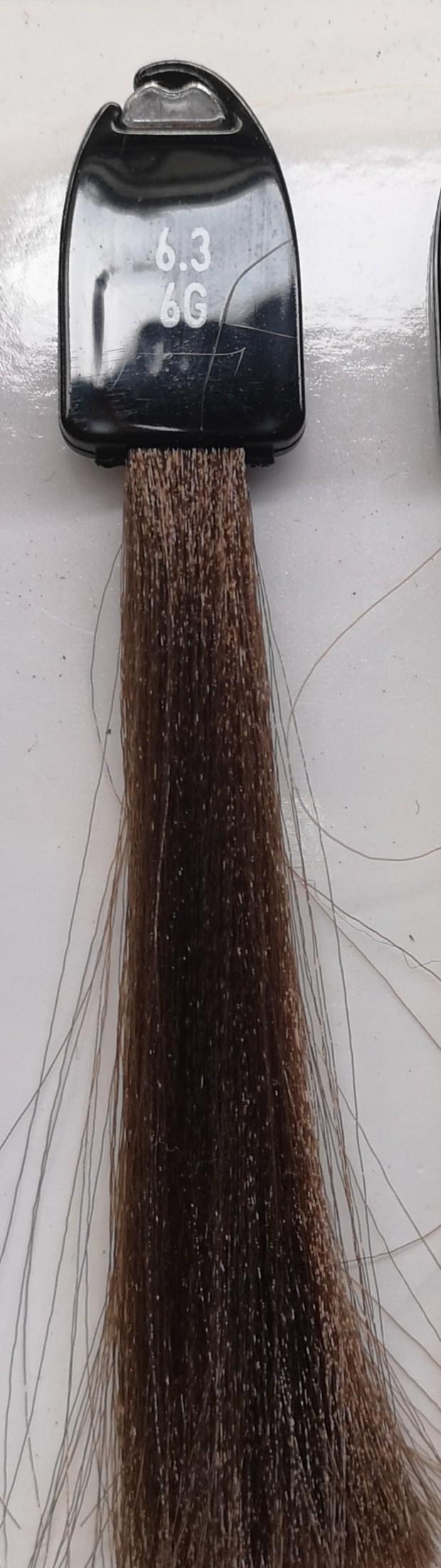 6.3 tamsi auksinė blondinė